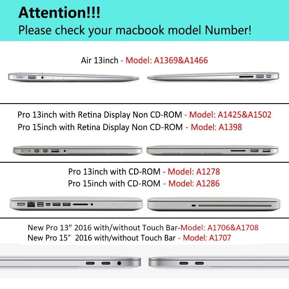 Carcasa rígida de Goma para para para MacBook Pro 13 A1706/A1708 sin Touch Bar de 13 Pulgadas 2017 y 2016 Navy Azul Rose Macbook Pro 13