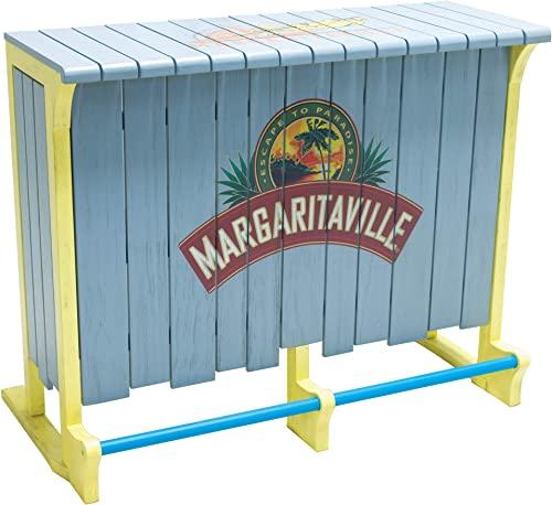 Margaritaville 4-Foot Indoor Outdoor Escape to Paradise Wood Bar
