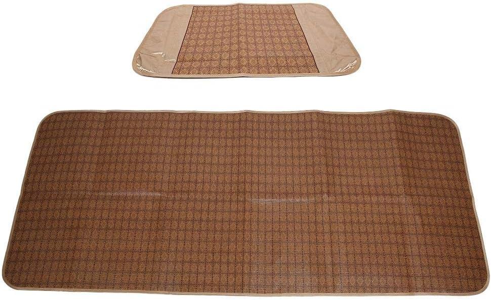 Yasashi Summer Sleeping Mat, Foldable Rattan Summer Sleeping Mat Cool Pad Cooling Bed Cusion for Home School Dormitory