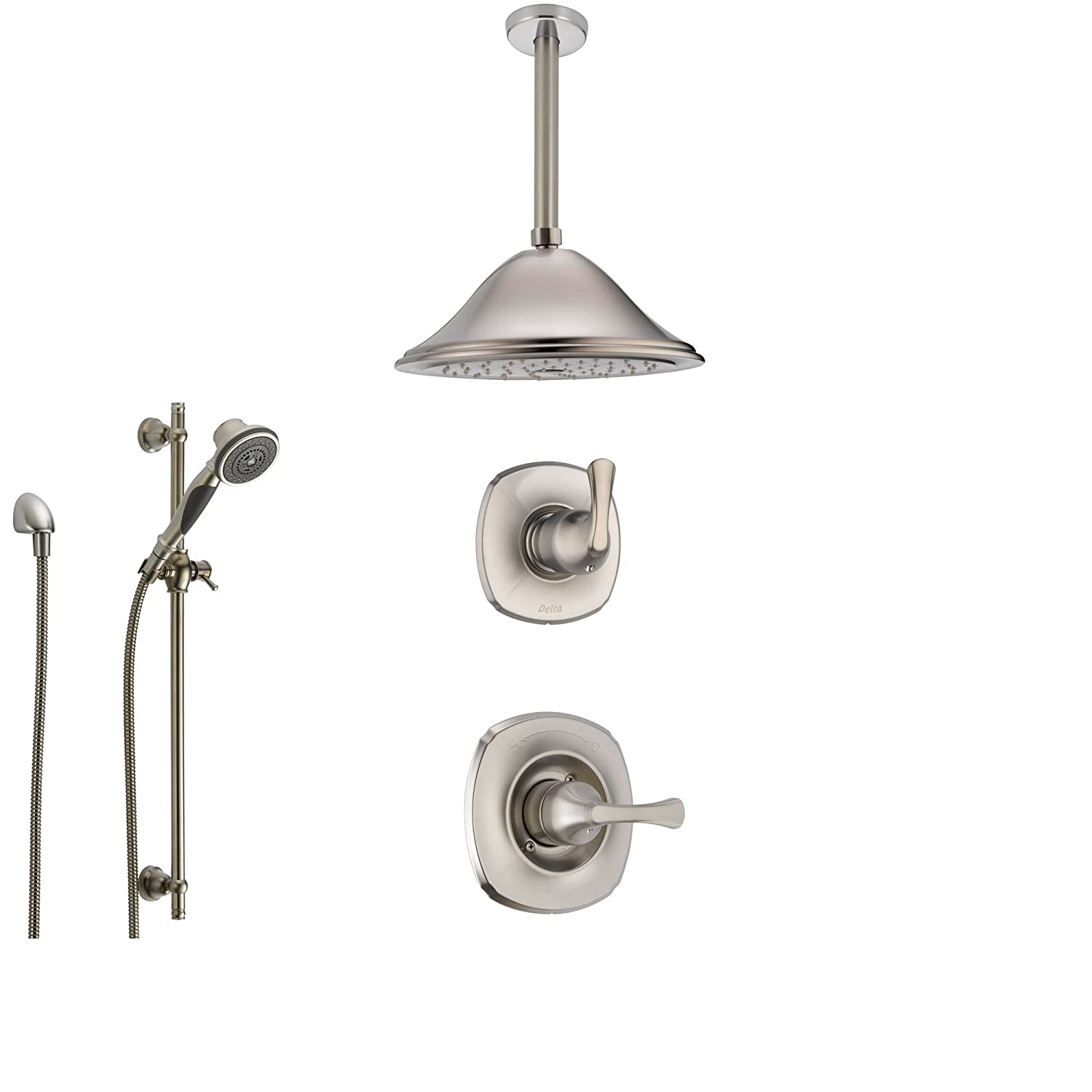Delta Addison Stainless Steel Shower System With Normal Shower