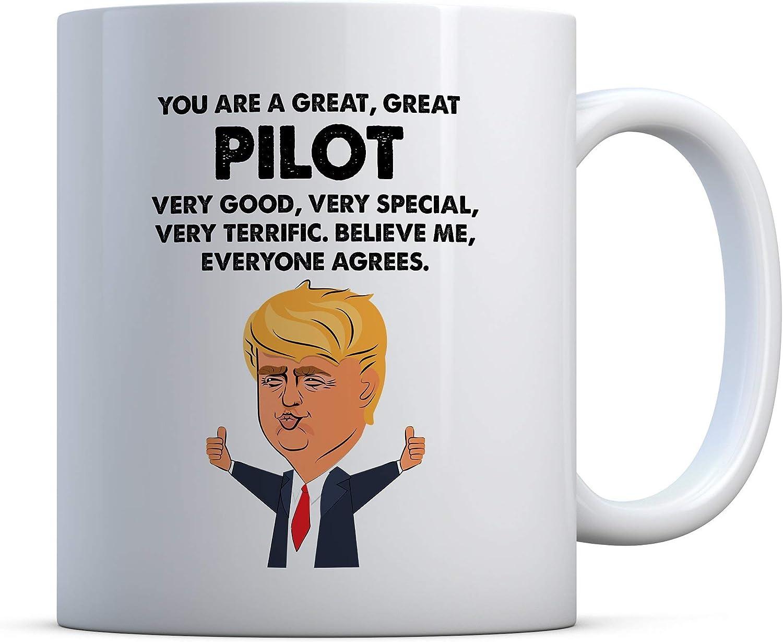 PILOT Gift Funny Trump Mug Best Pilot Birthday Christmas Jobs