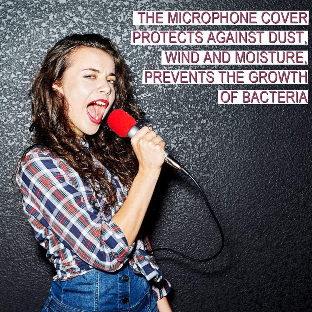 B/ühnenperformance f/ür KTV 10 St/ück Mikrofon Windschutz Schaumstoff Schaumstoff Mikrofonabdeckung Hand-waschbar Windschutz Mikrofon Abdeckung Schaum Schwarz