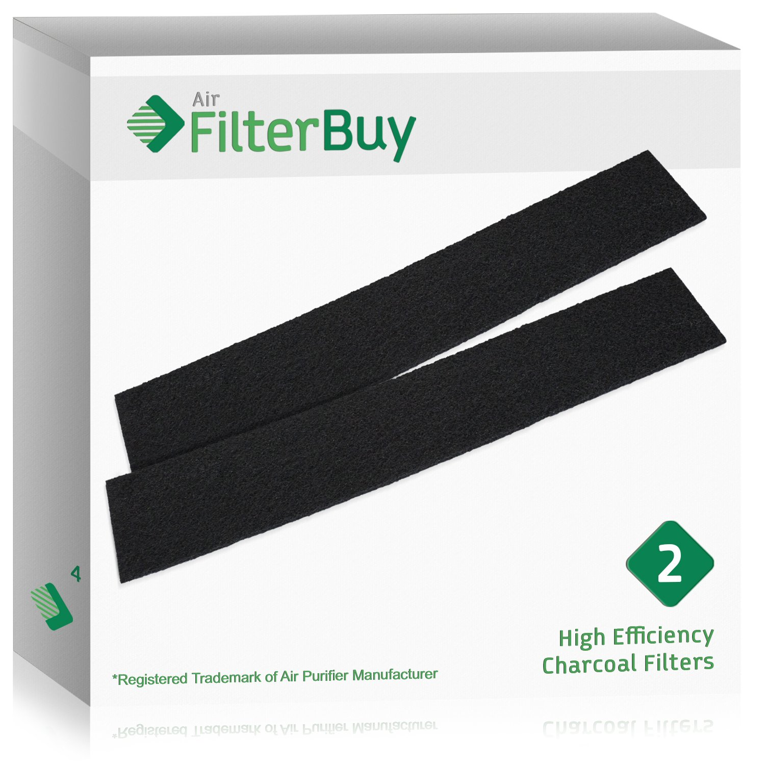 FilterBuy Honeywell HRF-B2 Filter B Replacement Charcoal Filters Designed by FilterBuy to be Compatible with Honeywell /& Vicks Air Purifiers. 2