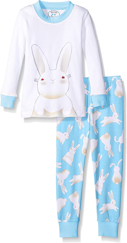 Saras Prints Unisex Kids Long John Cotton Pajamas