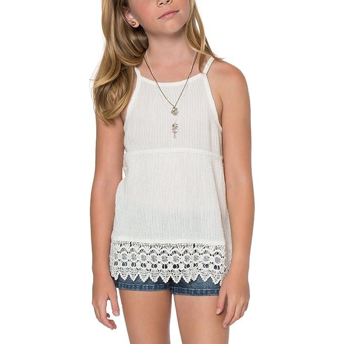 5cb2e00a8c109 O'Neill Big Girls' Karina Tank,Small,Winter White: Amazon.ca ...