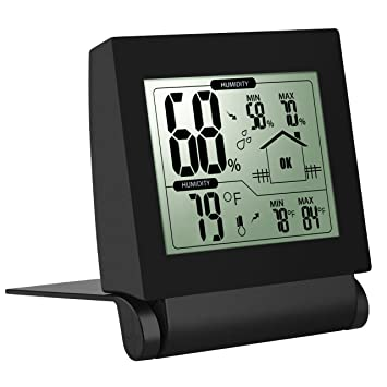 Amazon.com: Pictek Digital Hygrometer Indoor Thermometer, Simple ...