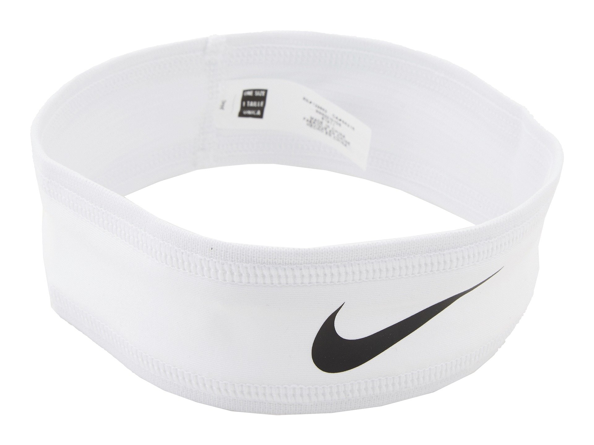 Nike Speed Performance Headband (One Size Fits Most, White/Black)