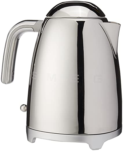 Amazon Com Smeg 1 7 Liter Kettle Chrome Kitchen Dining