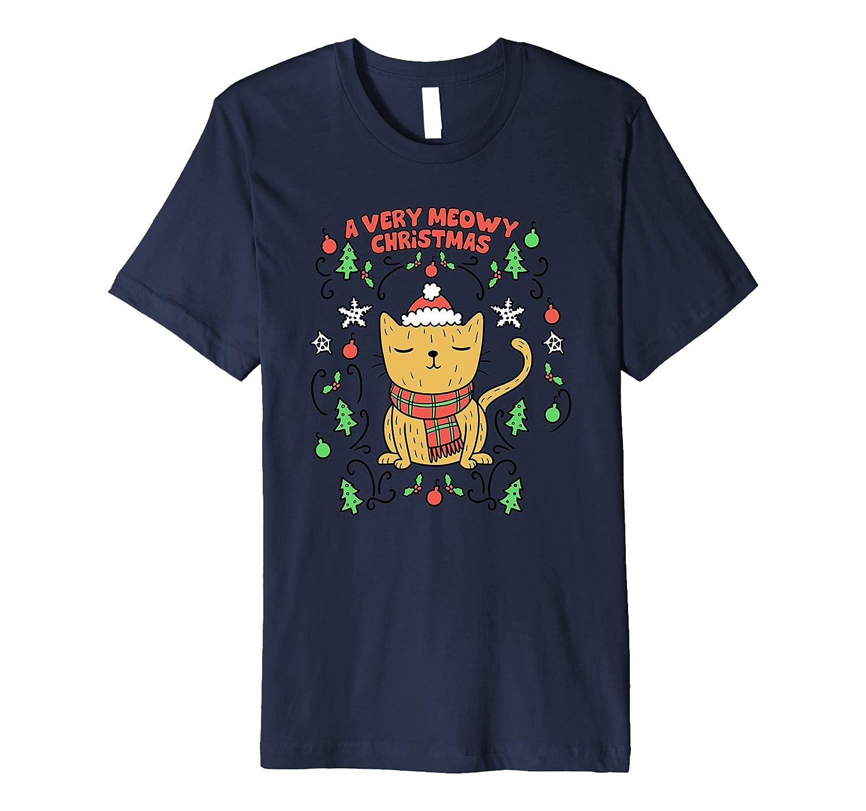 A Very Meowy Christmas T Shirt Cute Cat Tee-ANZ