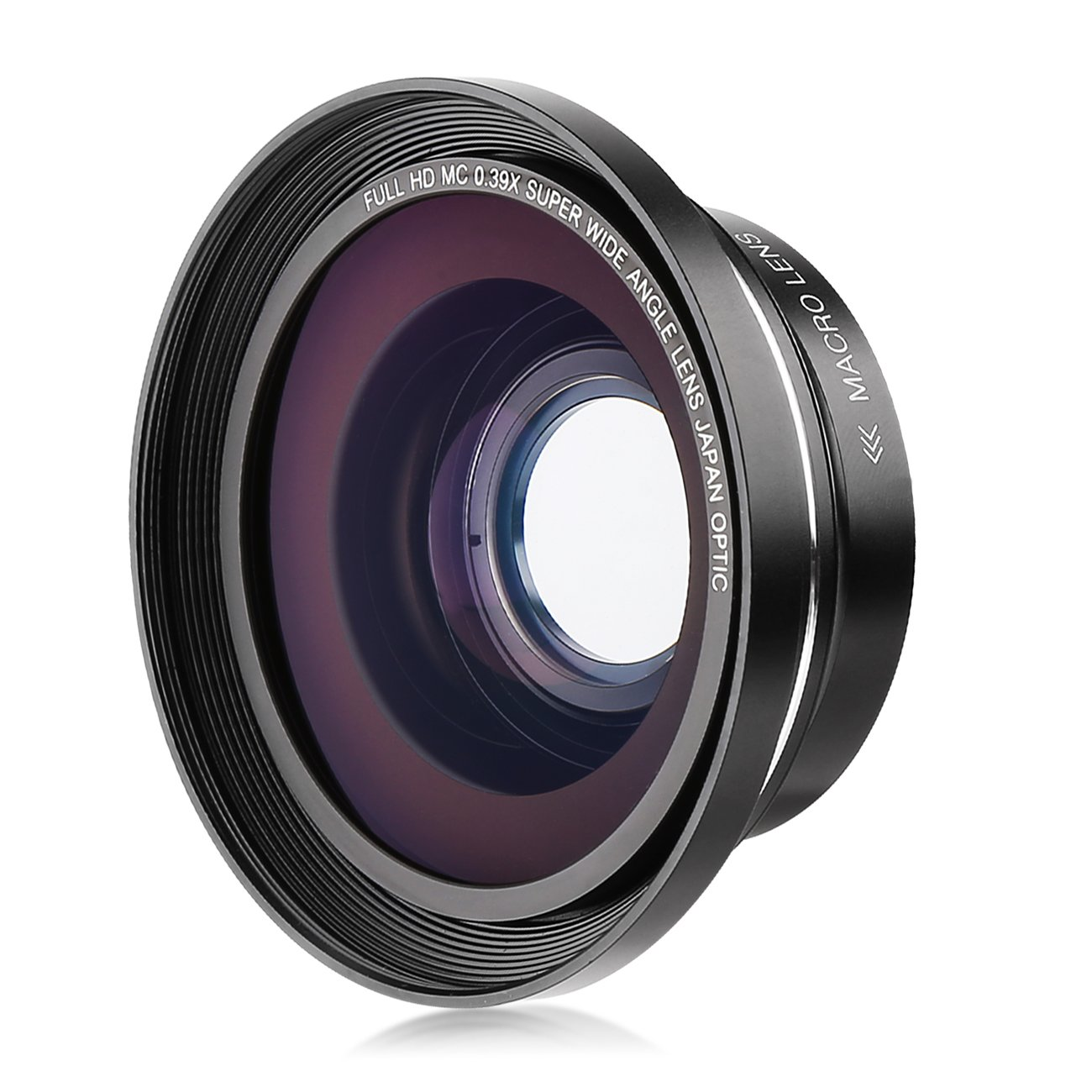 Kenuo 37mm 0.39X Full HD Wide Angle Macro Lens with 37mm to 30mm Lens Adapter for Digital Video Camera Camcorder by Kenuo