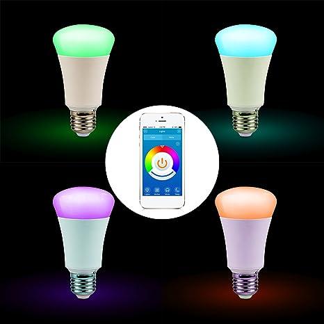 Homdox Bluetooth Smart LED bombilla, Smartphone App ...