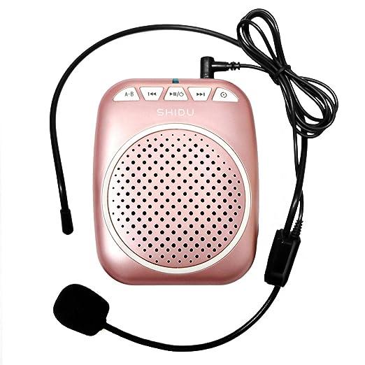 10 opinioni per SHIDU SD-S308 Rechargeable Wired Voice Amplifier, 5 Watts Louderspeaker with