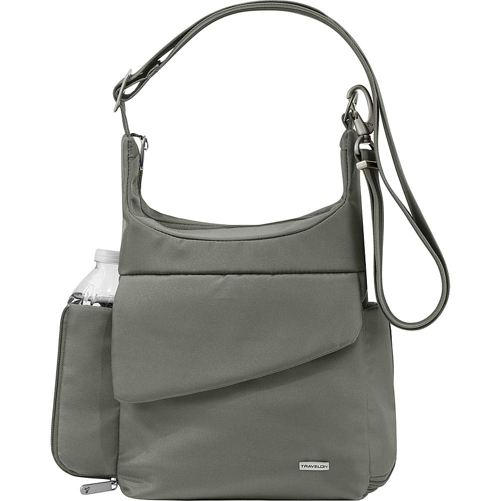 Travelon Anti-Theft Classic Messenger Bag - Colors (Pewter -