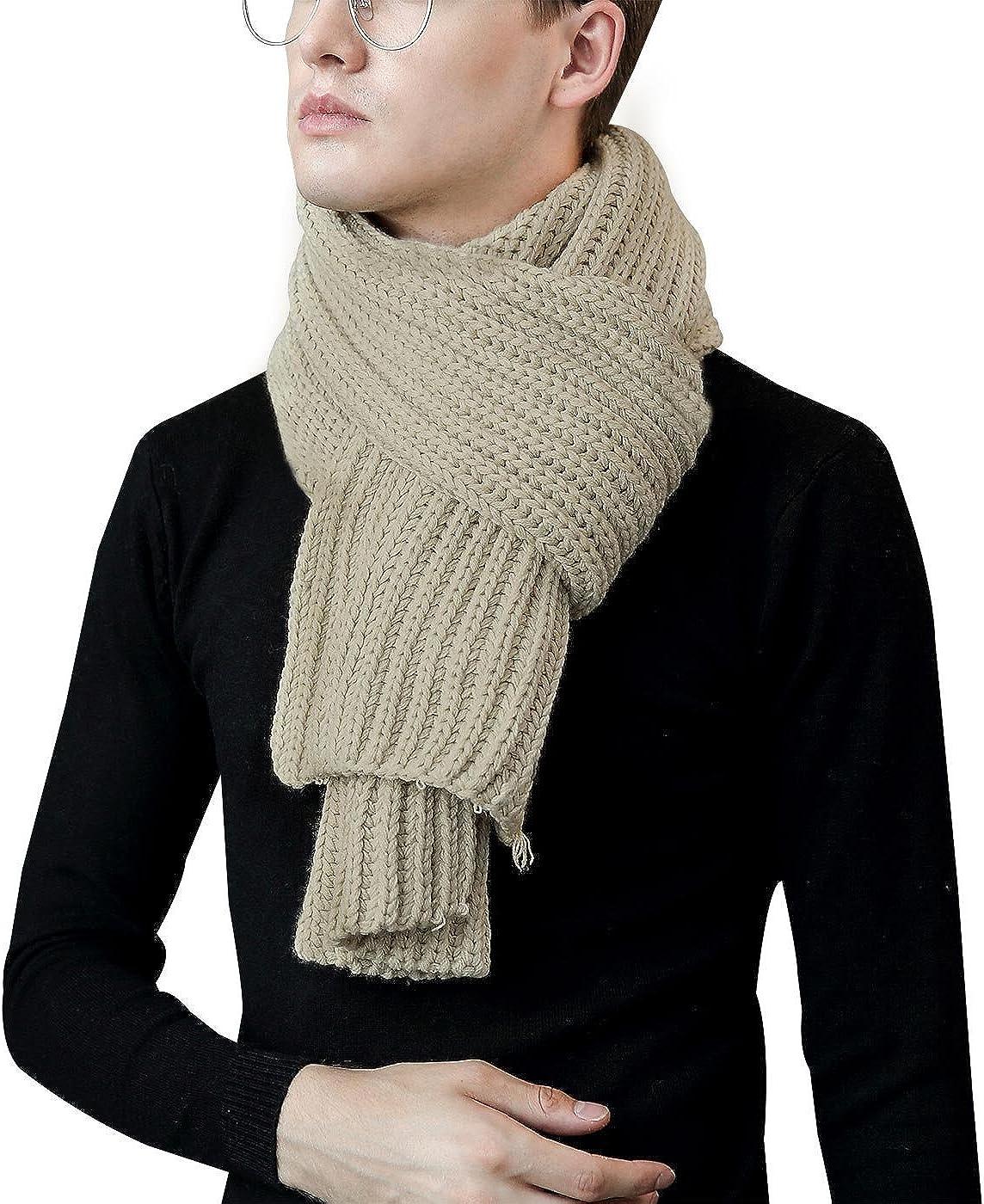 Aivtalk - Bufanda para Mujer Hombre de Punto Foulard Casual Clásico para Otoño Invierno - Capi - 25x185xm