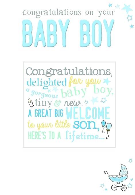 gemma congratulations new baby boy card