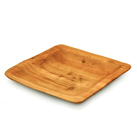 Enrico 2170 Root Wood Square Plate  sc 1 st  Amazon.com : square wooden dinner plates - pezcame.com