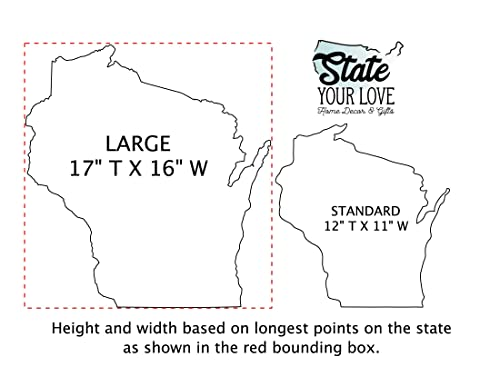 Wisconsin state sign wall decor \u2022 Unique state sign \u2022