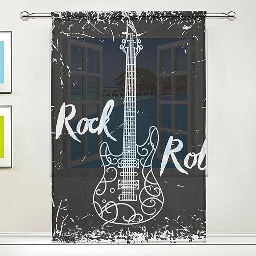 COOSUN Guitarra eléctrica y Letras Rollo de la Roca en Fondo del ...