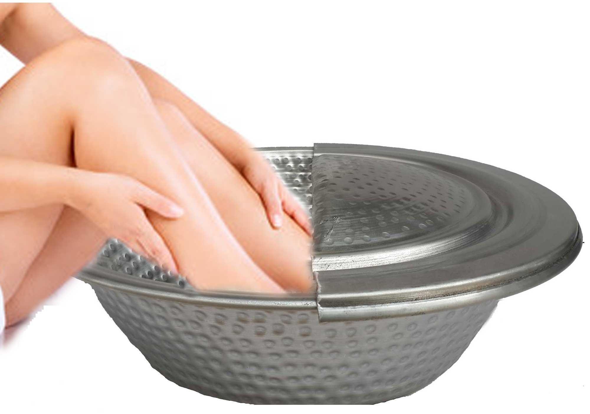 Egypt gift shops Light Nickel Pedicure Spa Massage Leg Bath Soaking Wash Massage Bowl Basin Skin Care Bride Cosmetic Wellness Foot Rest