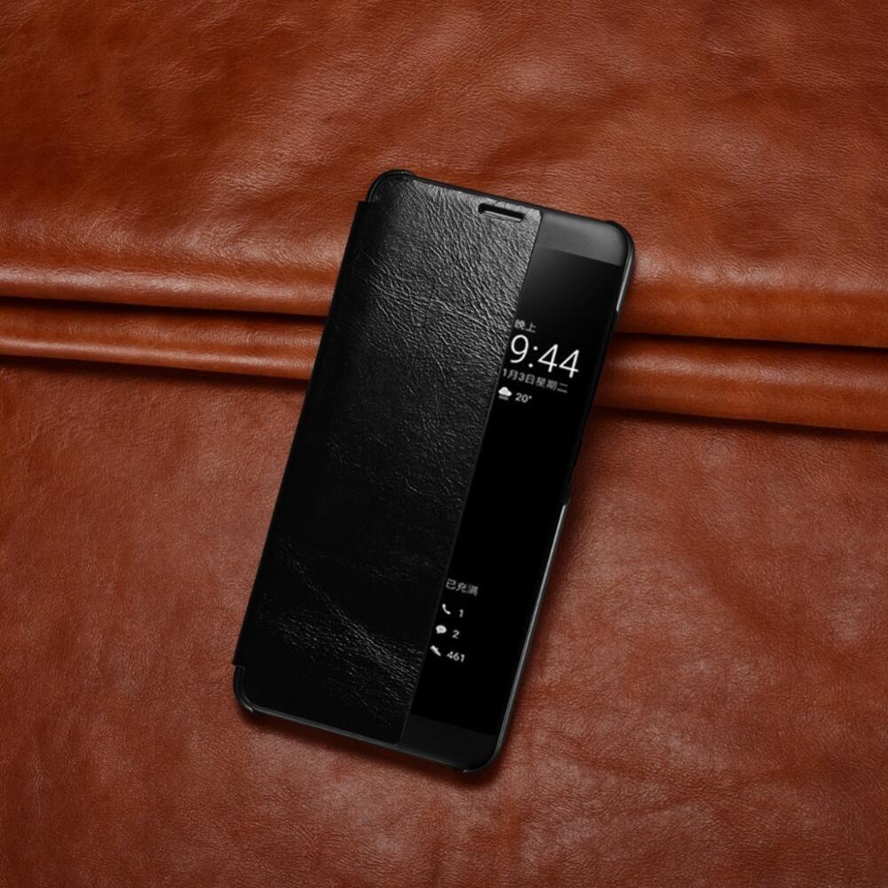 Bpowe r/étro Flip Cover Cuir PU Window View en veille automatique R/éveil Smart Housse Coque /à rabat pour Huawei Mate 10/Pro 2017 Huawei Mate 10/Pro Coque