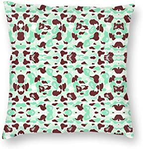"""chenyu Bape,Camouflage Square Throw Pillow Covers with Hidden Zipper Home Sofa Cushion Decorative Pillowcases 22""""x22"""""""