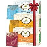 Goodwyn Herbal Tea Combo (Peppermint Tea | Chamomile Tea | Kashmiri Kahwa Green Tea), 20 Tea Bags Per Box