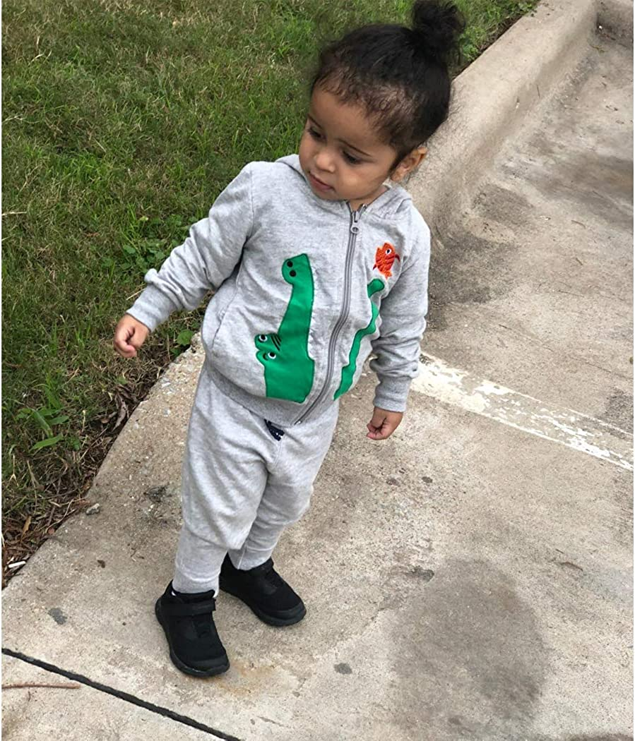 DD-CM Little Boys Animal Dinosaur Fur Fleece Hoodies Coat Jackets
