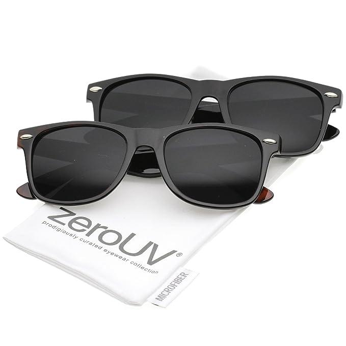 Amazon.com: ZeroUV – Gafas de sol con montura de cuerno de ...