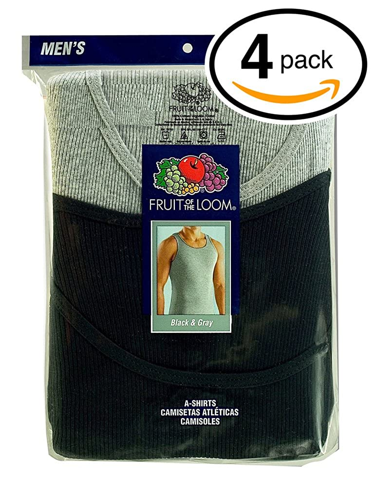 Fruit of the Loom Mens 100% Cotton A-Shirts Tank Tops Undershirts at Amazon Mens Clothing store: