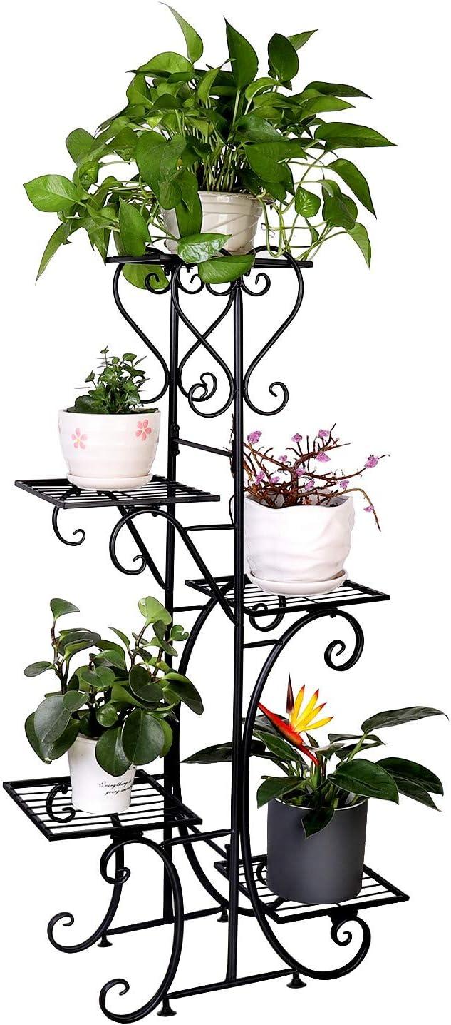 5 Tier Metal Plant Stand Flower Pot Holder Shelf Rack Garden Home Indoor
