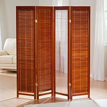 Amazoncom Tranquility Wooden Shutter Room Divider Kitchen Dining