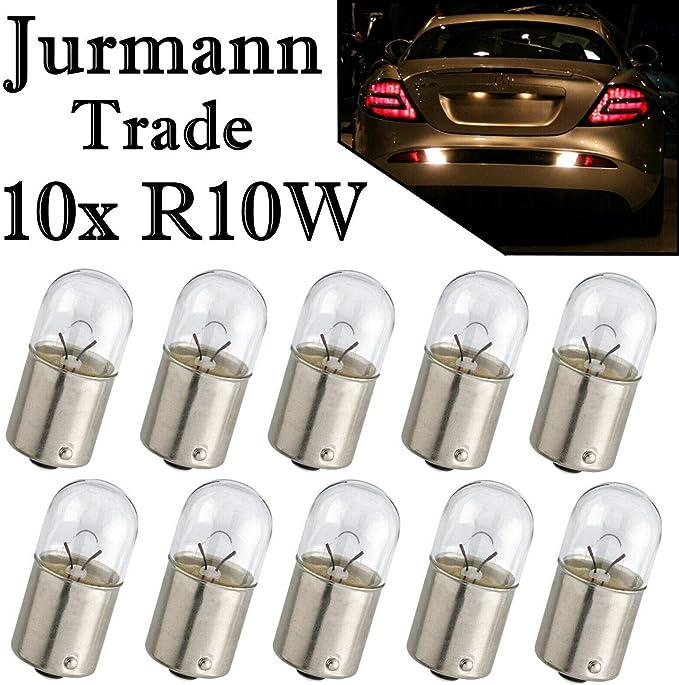 10x R10w 12v 10w Ba15s Lampen Positionslicht Rückfahrlicht Bremslicht 10 Stück Auto