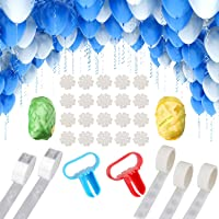 NW 1776 Balloon Arched Tape Garland Decoration Set, 33ft Tape, 300 Glue Points, Knotter 2, Ribbon 2, Flower Clip 10…