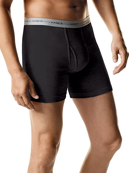 196ee7a83d3a Hanes Mens ComfortSoft TAGLESS 2-Pack Boxer Briefs at Amazon Men's Clothing  store: