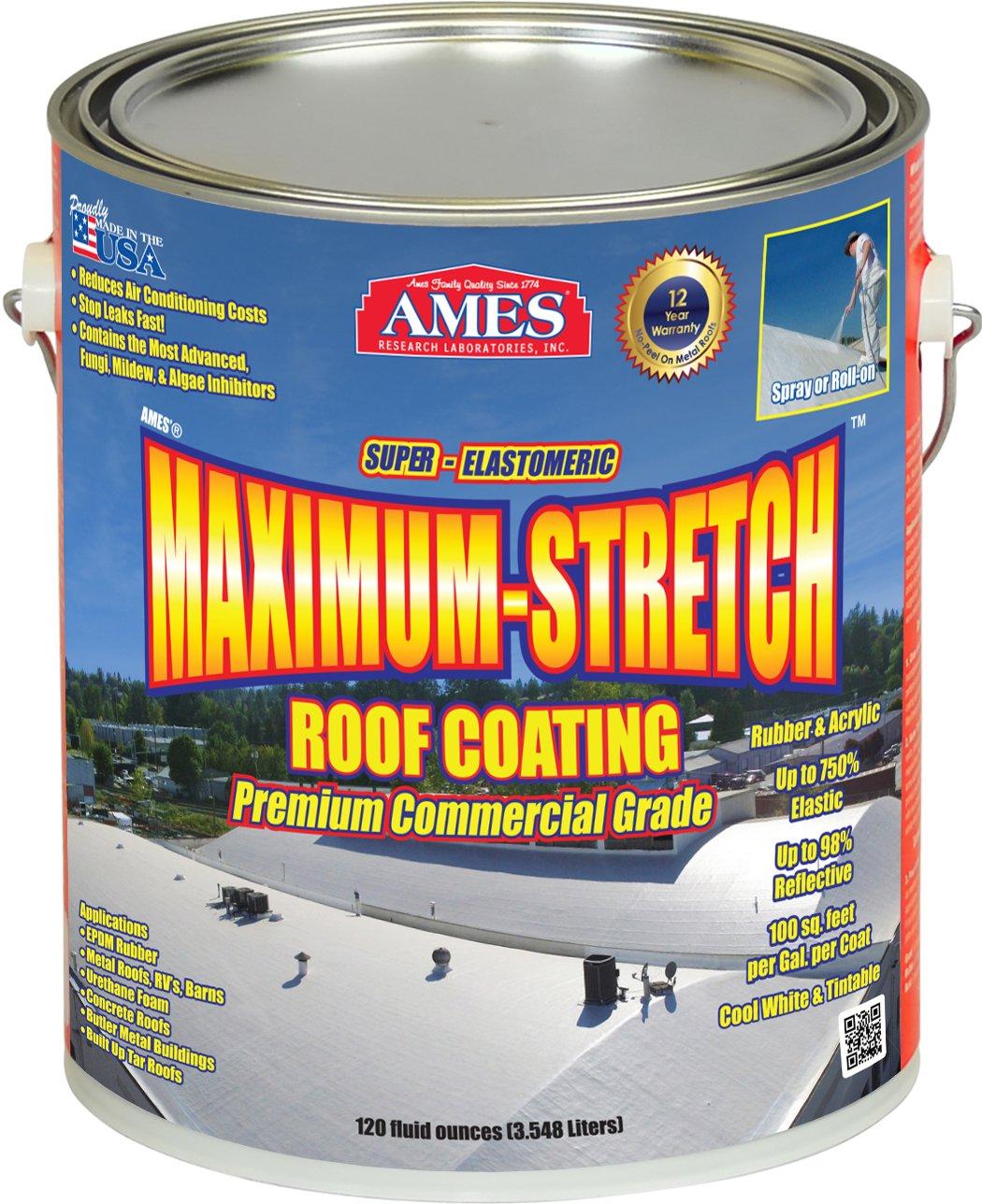 Ames Maximum Stretch 1 gallon Grey Maximum Stretch Roof coating by Ames