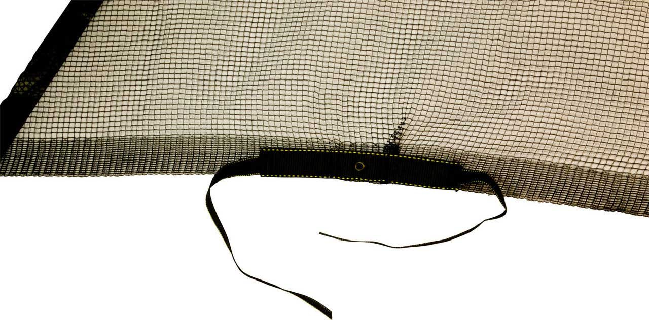 SkyBound Trampoline Net Fits Round 12 Ft Frames Fits 6 Straight Curved Poles