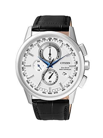 Citizen - Reloj de Pulsera para Hombre Radio Controlled Cronógrafo Cuarzo Piel at8110 - 11 A: Citizen: Amazon.es: Relojes