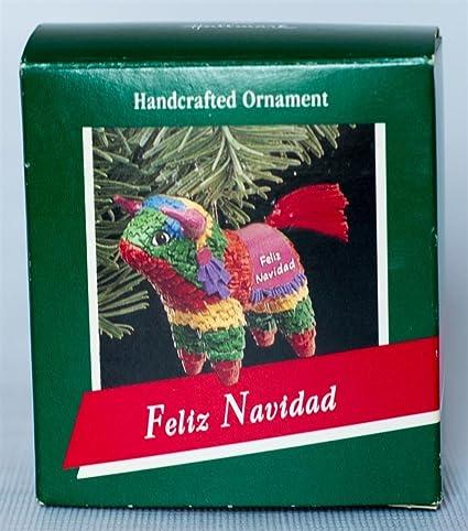 d8a9ce126e315 Image Unavailable. Image not available for. Color  Hallmark Feliz Navidad  Ornament ...