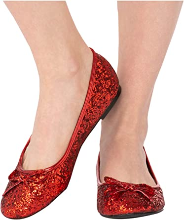 Red Glitter Shoes For Adults