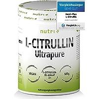 L- CITRULLINMALAT-PULVER 500g - högdoserat + veganskt + rent - testvinnare - bodybuilding, fitness och träning - L…