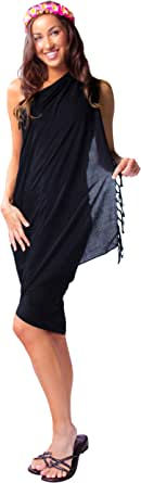 1 World Sarongs Womens Solid Swimsuit Cover-Up Sarong in Your Choice of Color