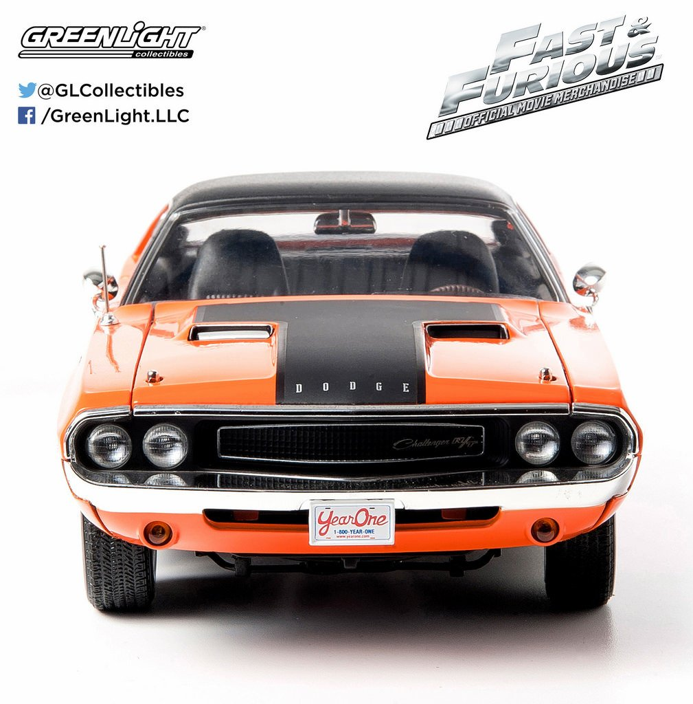 Amazon com greenlight 1 18 1970 dodge challenger from 2fast 2furious 2003 toys games