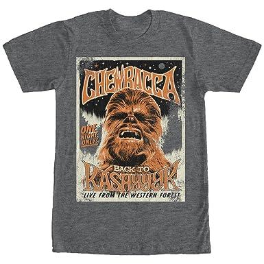 de cartel Chewbacca gris camiseta oscuro Wars Star color de con para concierto de hombre brezo rXrYBqxRw