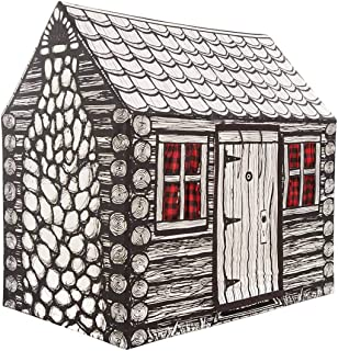 product image for Indoor Outdoor Log Cabin Playhouse Play Tent for Kids - 52 L x 33 W x 53 H