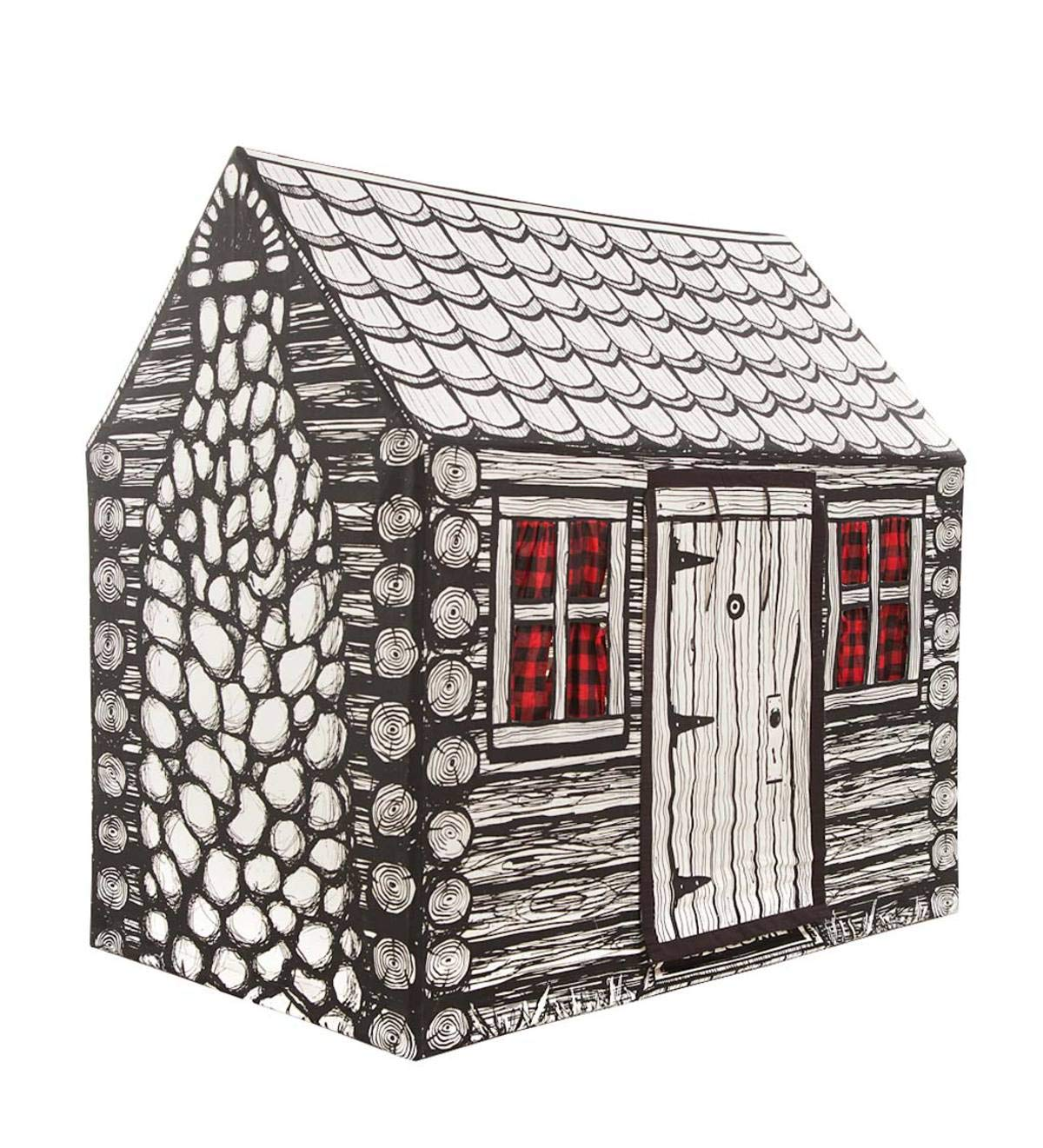 Amazoncom Indoor Outdoor Log Cabin Playhouse Play Tent For Kids