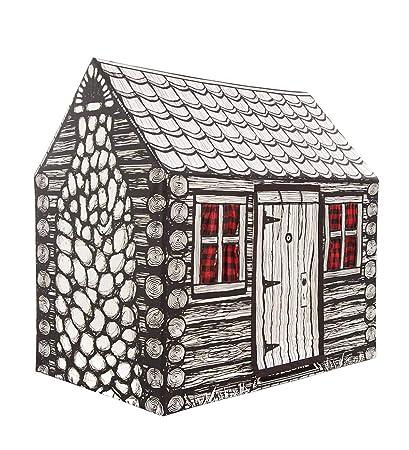 Amazon Com Indoor Outdoor Log Cabin Playhouse Play Tent For Kids