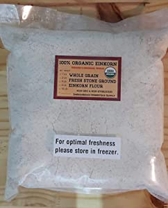 Organic Whole Grain Einkorn Flour, Fresh Stone-Ground & USA Grown, Heritage Grains of Shenandoah- great for gluten issues (5 pounds)