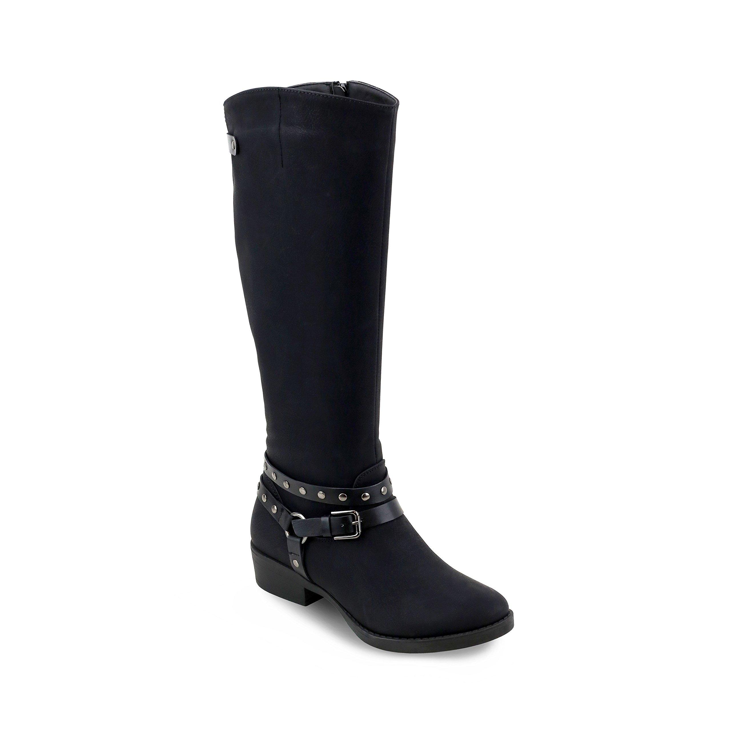 Olivia Miller Freeport' Multi Studded Strap Riding Boots KWOM 100 Oe Black 11