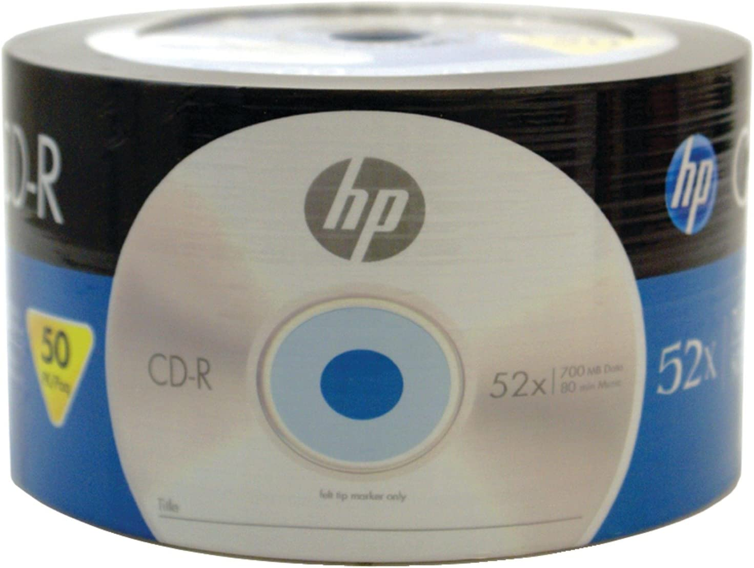 Hp 52x 700MB 80-Minute CD-R Media, 50-Piece, Spindle (CR00070B)