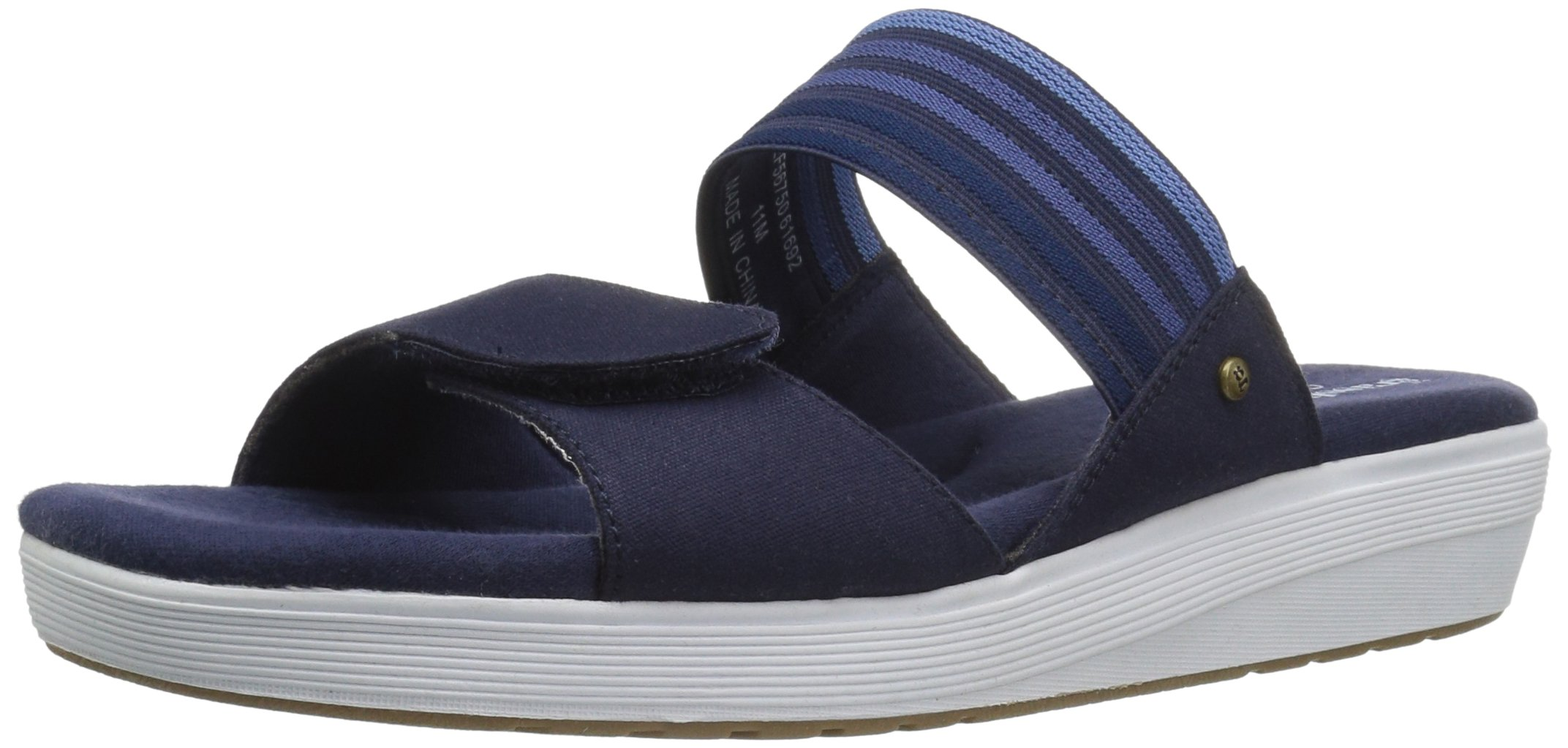Grasshoppers Women's Springy Flat Sandal, Peacoat Navy, 7 W US